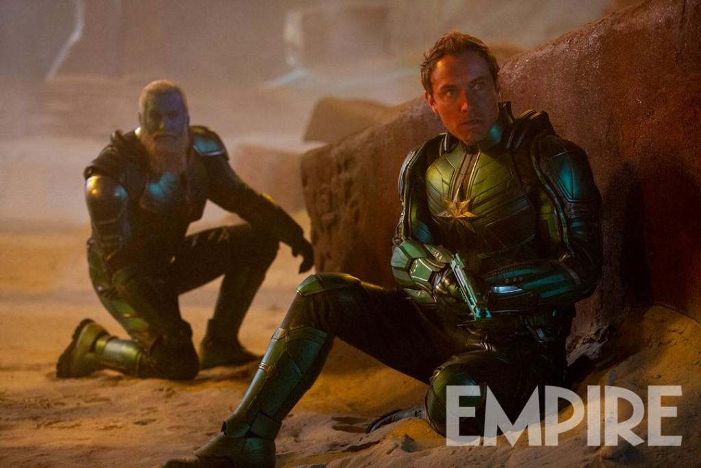 Captain Marvel Empire Skrulls Jude Law Kree Rune Temte Bron-Char