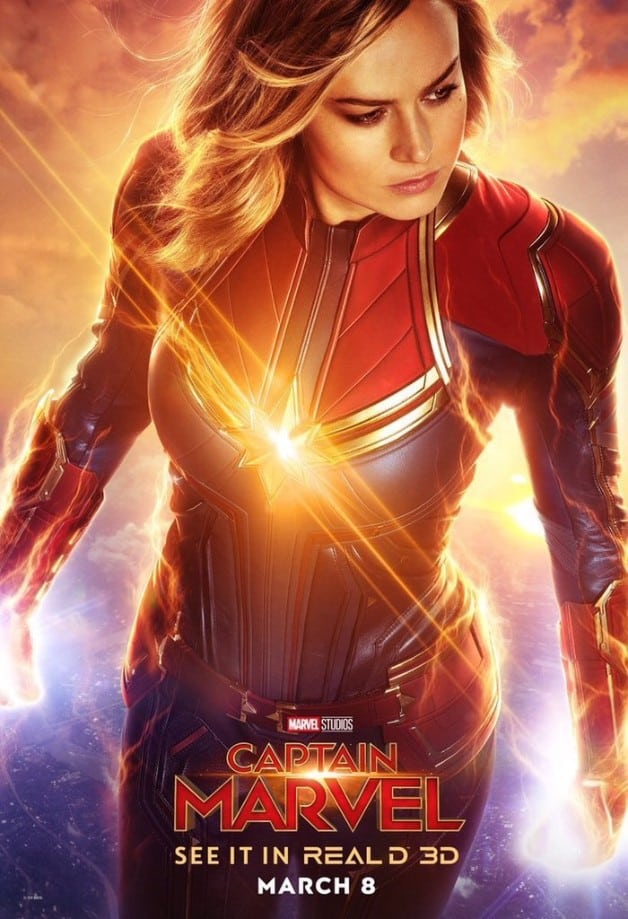 New RealD IMAX Amp Dolby Captain Marvel Posters Are Stunning