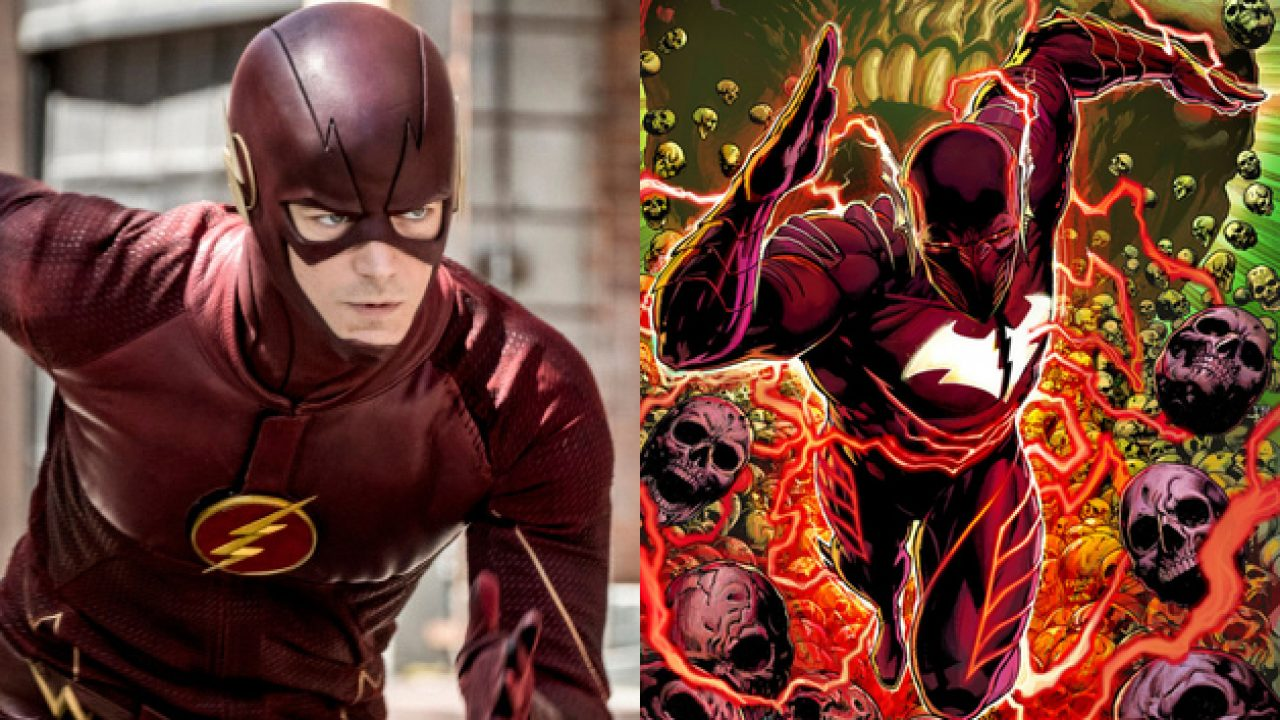 See Paul Wesley Suit Up As Red Death For Grant Gustin S The Flash