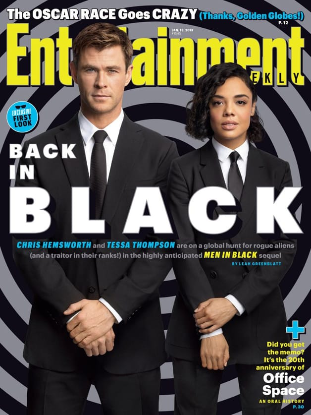 Men In Black International Chris Hemsworth Tessa Thompson Entertainment Weekly Cover