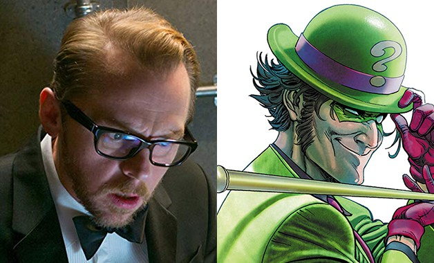 Batman Simon Pegg Riddler DC Comics