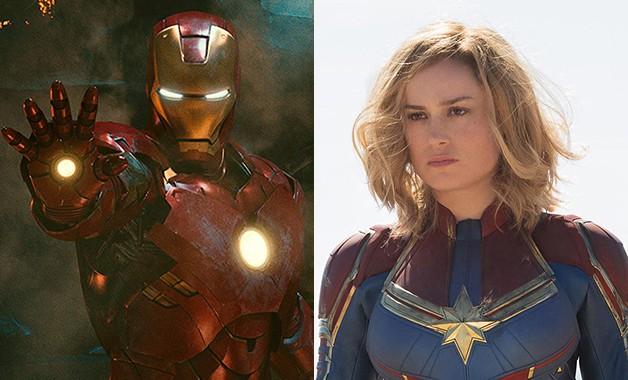 Captain Marvel Iron Man Brie Larson