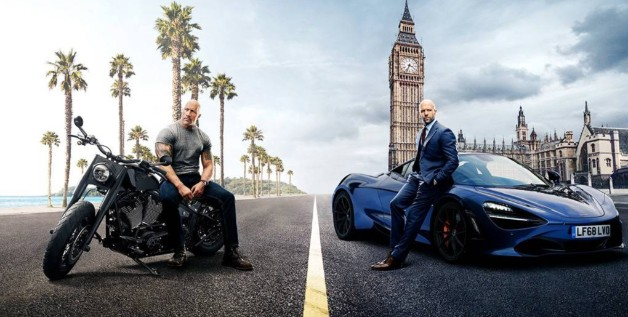 Hobbs and Shaw Fast and Furious Dwayne Johnson Jason Statham The Rock