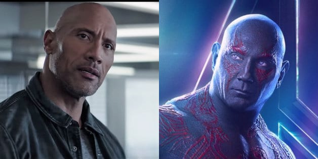 Dave Bautista Throws Shade At The Rock Says He S Not A