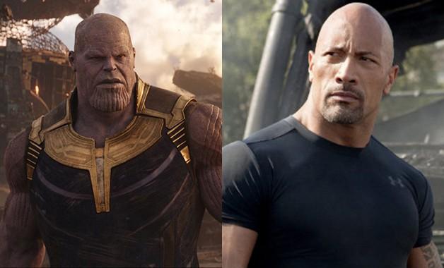 Avengers Endgame Josh Brolin Thanos Dwayne Johnson Black Adam