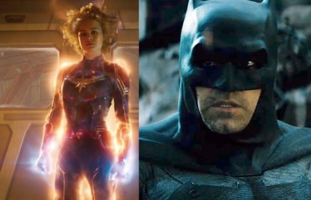 Batman v Superman Ben Affleck Batman Captain Marvel Brie Larson