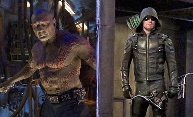 Dave Bautista Guardians Of The Galaxy Arrow Stephen Amell