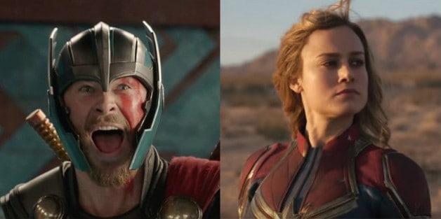 Thor Brie Larson Captain Marvel Avengers Endgame Chris Hemsworth