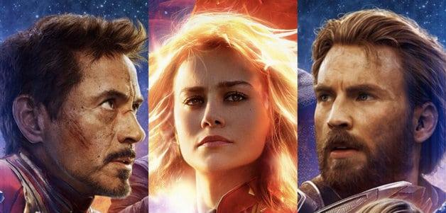 Avengers Endgame Captain Marvel Studios Chris Evans Robert Downey Jr Brie Larson