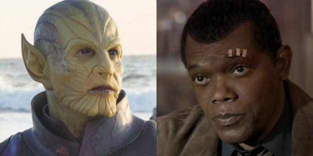 Captain Marvel Teases Samuel L Jackson Skrull Transformation