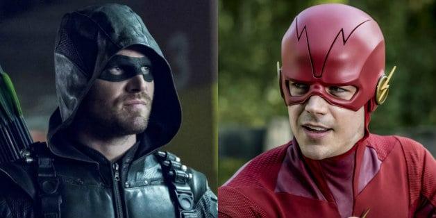 Stephen Amell Grant Gustin The Flash Arrow