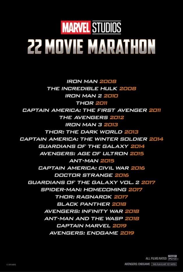 AMC Marvel Movie Marathon Avengers Endgame