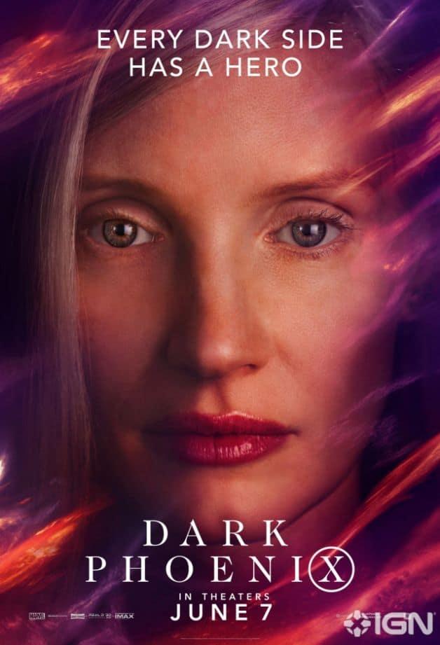 Dark Phoenix Character Poster Jessica Chastain