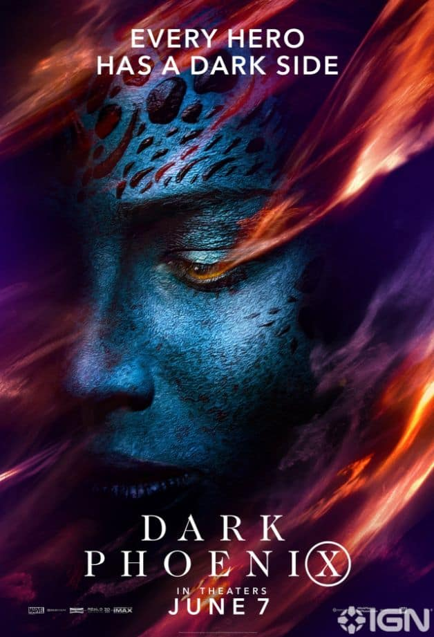 Dark Phoenix Character Poster Mystique Jennifer Lawrence