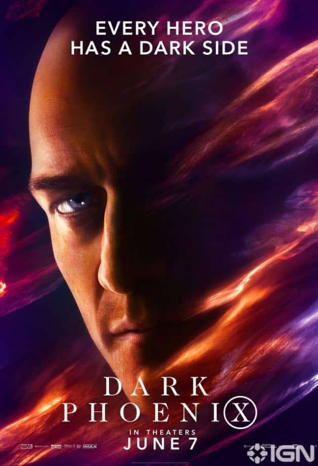 Dark Phoenix Character Poster Professor X James McAvoy