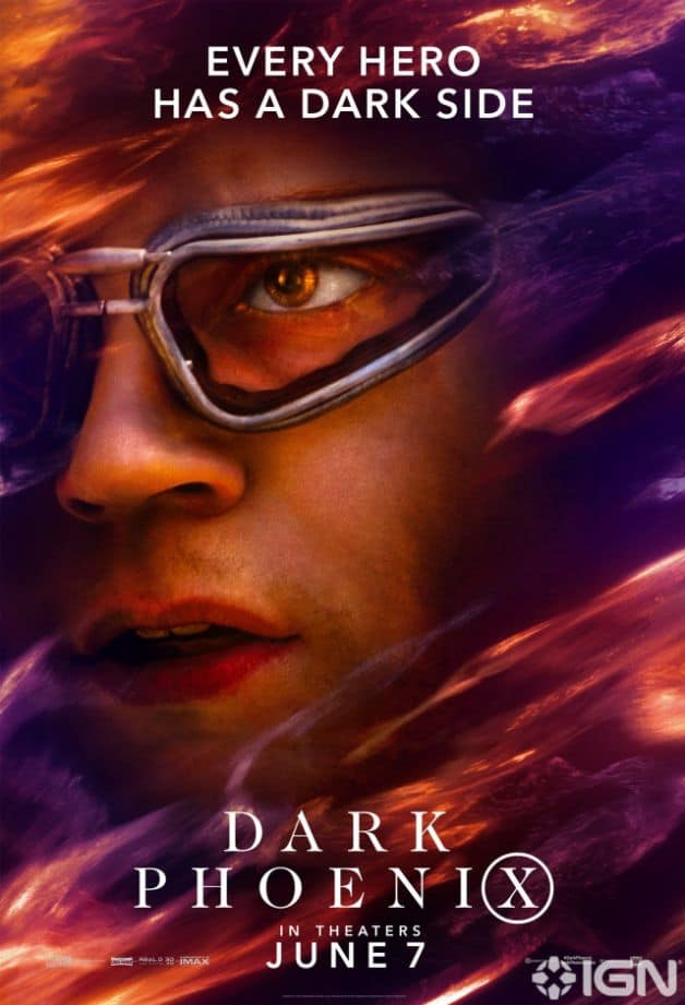 Dark Phoenix Character Poster Quicksilver Evan Peters