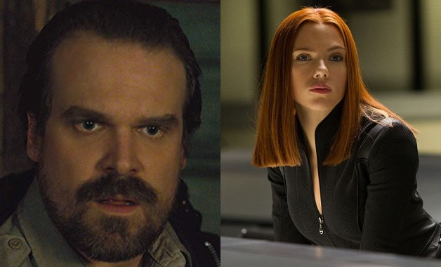 David Harbour Black Widow Marvel Scarlett Johansson