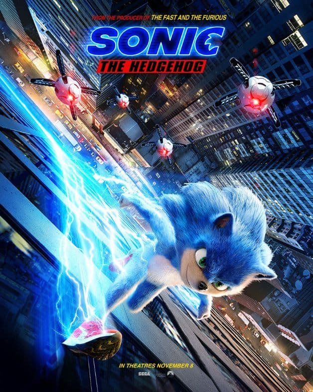 New Sonic Movie Poster Shows The Hedgehog Racing Into Action