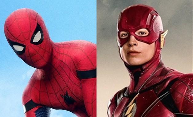 Spider-Man Tom Holland The Flash Ezra Miller