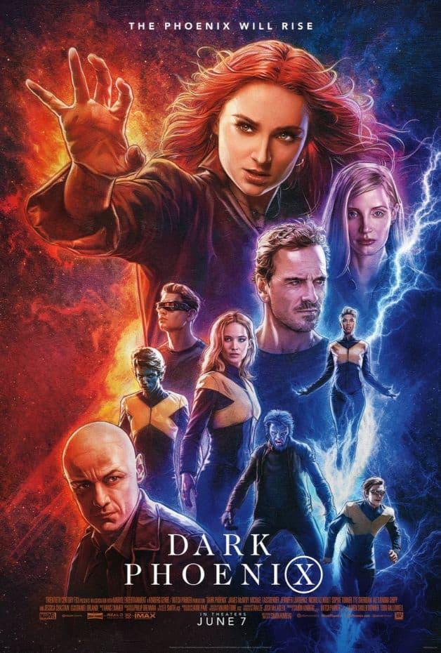 Cartaz de Phoenix escuro Sophie Turner Jean Grey