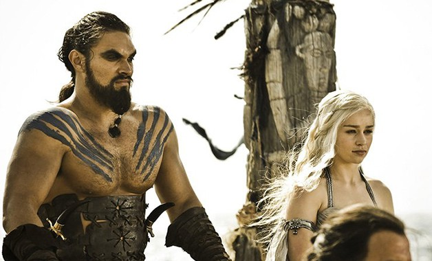 Game of Thrones Emilia Clarke Jason Momoa