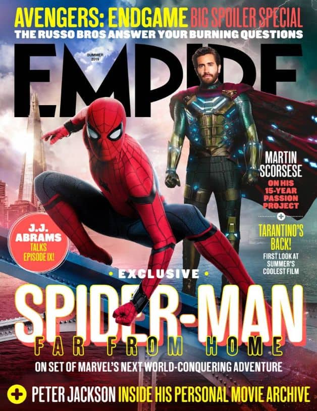 Spider-Man Far From Home Empire Cover Tom Holland Jake Gyllenhaal