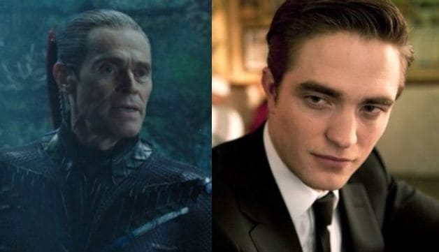 Willem Dafoe Aquaman Robert Pattinson Cosmopolis The Batman Joker
