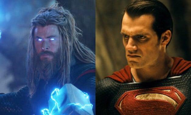 Chris Hemsworth Thor Henry Cavill Superman