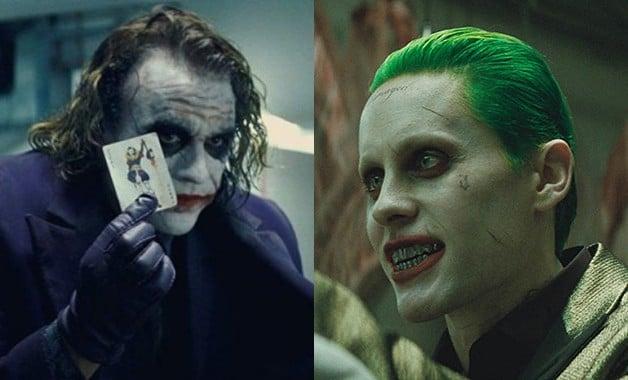 Heath Ledger Jared Leto Joker
