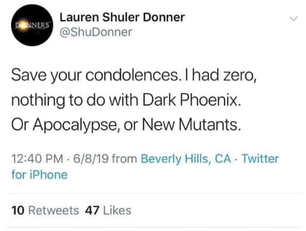 Xmen producer tweet
