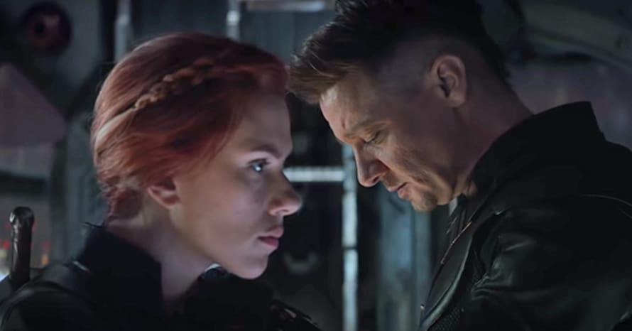Avengers Endgame Jeremy Renner Scarlett Johansson Black Widow Hawkeye
