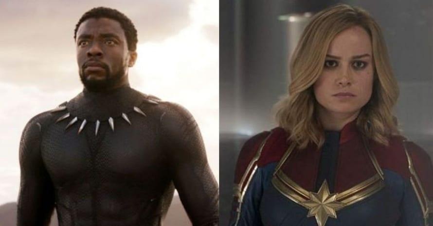 Black Panther Chadwick Boseman Captain Marvel Brie Larson
