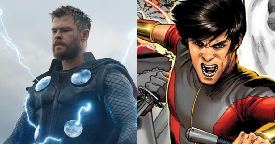 Chris Hemsworth Thor Love And Thunder Shang-Chi