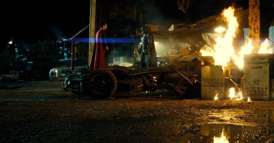 Batman v Superman Batmobile Crash