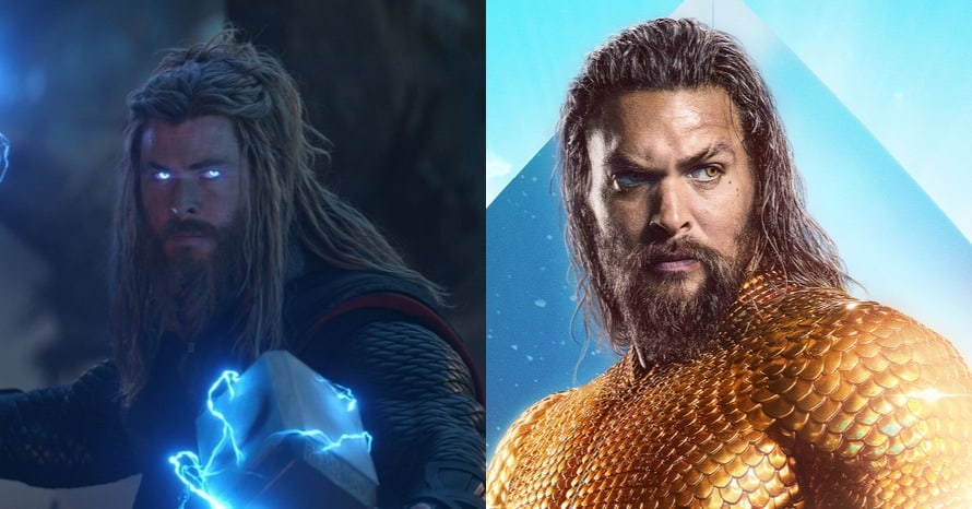 See Avengers Star Chris Hemsworth Don Jason Momoa's Aquaman Suit