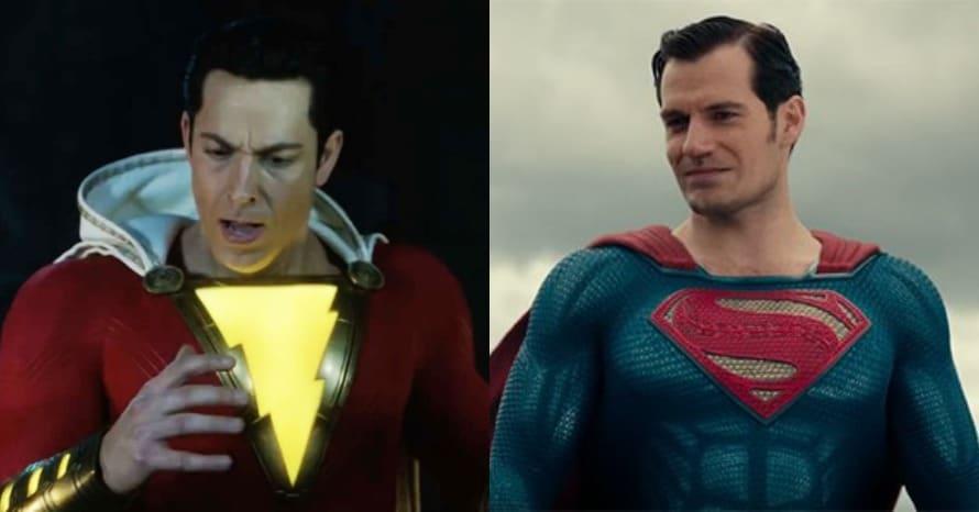 Shazam Zachary Levi Henry Cavill Superman Batman