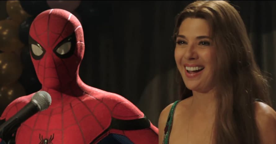 Spider-Man Far From Home Tom Holland Aunt May Marisa Tomei