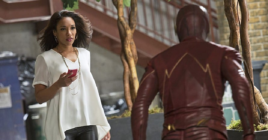 The Flash Candice Patton Grant Gustin Iris West J. R. Smith Geoff Johns Mirror Iris