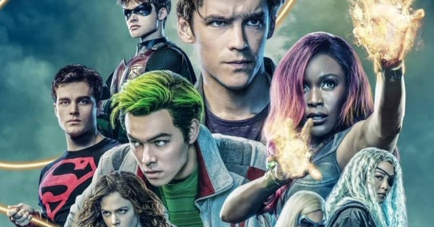 Titans Season 2 Poster Robin, Starfire, Beast Boy, Jason Todd, Superboy, Dove, Wonder Girl Batman Iain Glen Deathstroke
