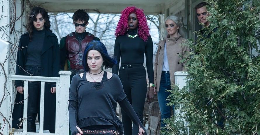 Titans Raven Trigon Anna Diop Starfire Minka Kelly Jason Todd Curran Walters
