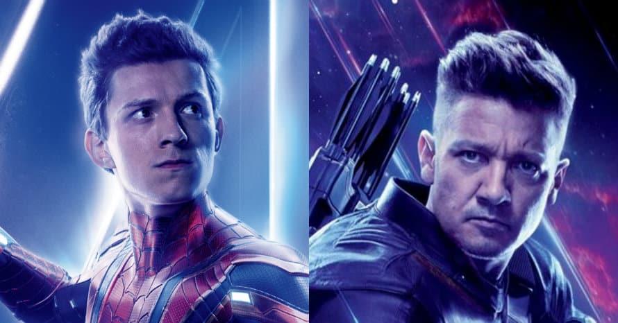 Avengers Endgame Hawkeye Tom Holland Jeremy Renner Spider-Man Marvel Studios Sony MCU
