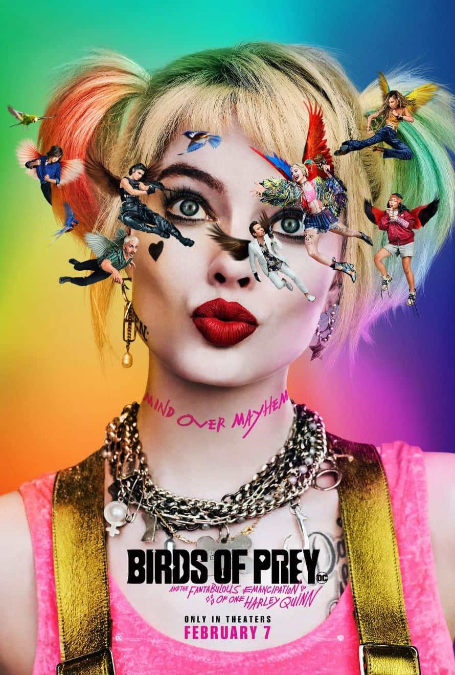 Birds of Prey Official Poster Margot Robbie Harley Quinn