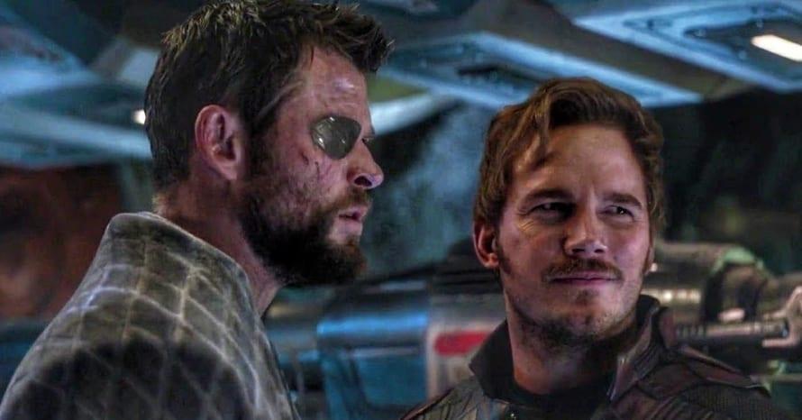 Chris Pratt Chris Hemsworth Avengers Infinity War