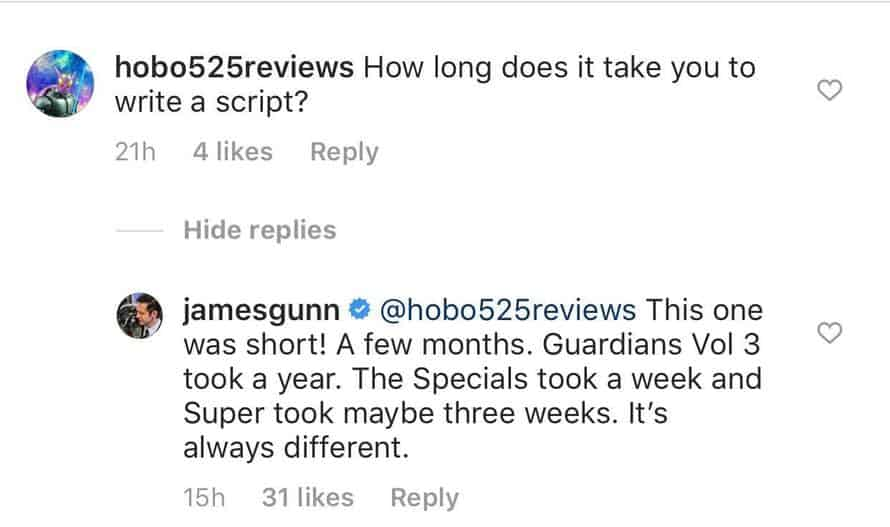James Gunn The Suicide Squad Script