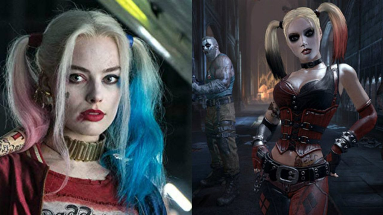 See Margot Robbie S Harley Quinn Wear Arkham Inspired Suit In Pic