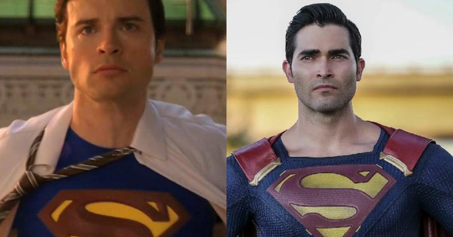 Tom Welling Tyler Hoechlin Superman Crisis On Infinite Earths