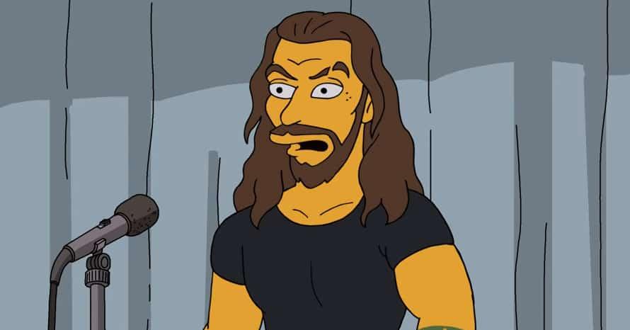 Aquaman Jason Momoa The Simpson