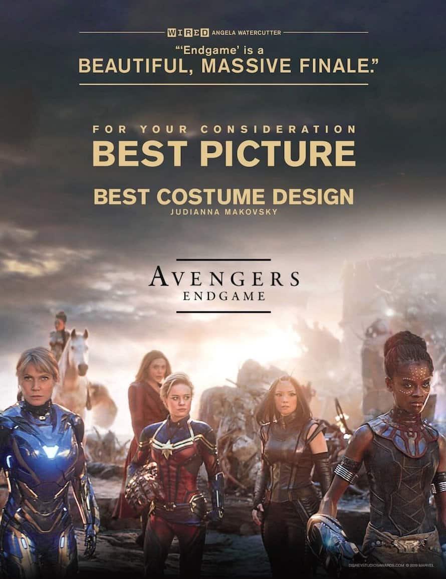 Avengers Endgame Marvel Best Costume Design