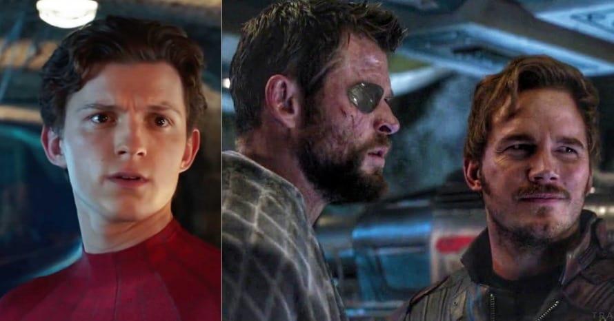 Avengers Tom Holland Chris Hemsworth Chris Pratt