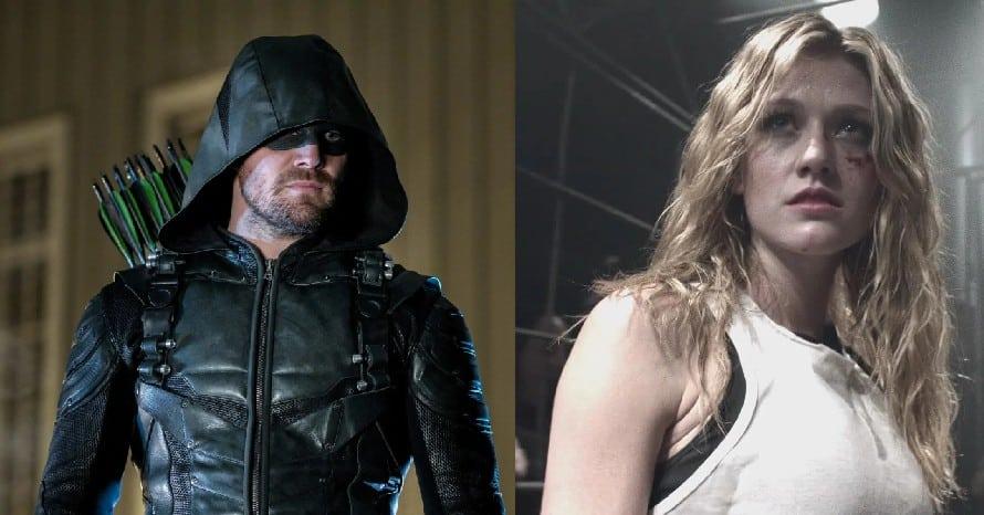 Green Arrow Stephen Amell Katherine McNamara Crisis On Infinite Earths